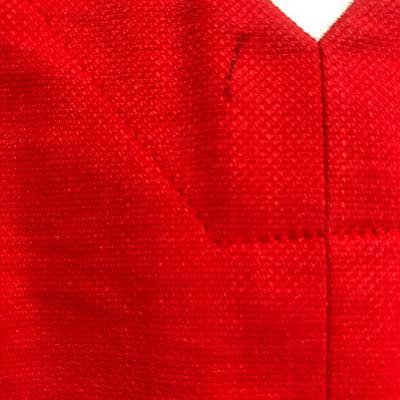 leather detail low v-neck dress